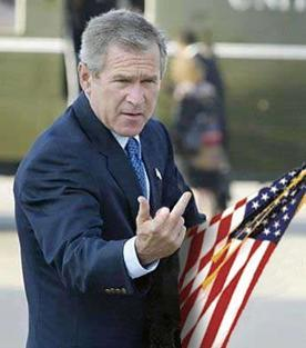 Bush Flipping The Bird