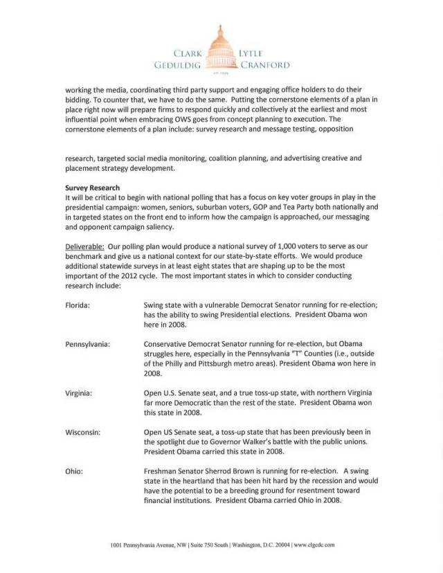Clark Lytle Geduldig Cranford Lobbyists Plan To Undermine OWS Page 2