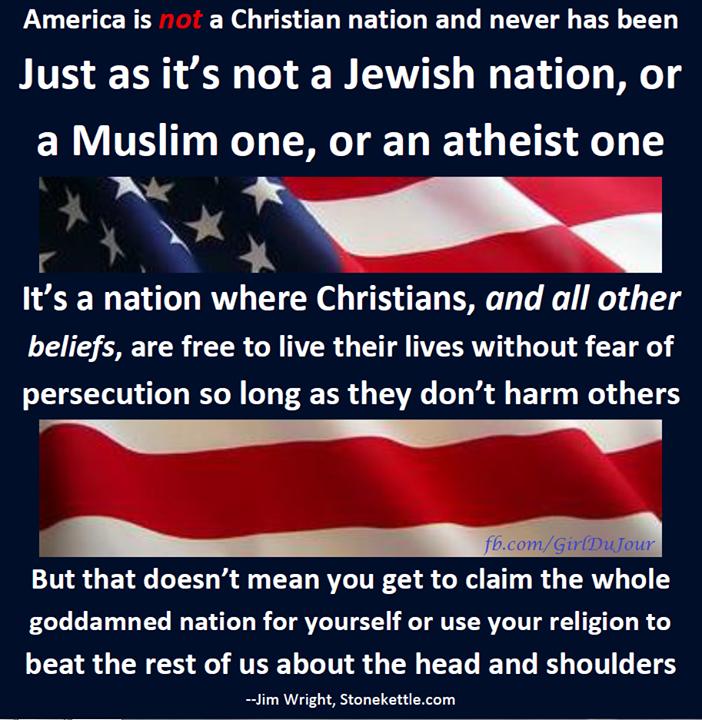 America is NOT a Christian Nation Jim Wright Girl Du Jour