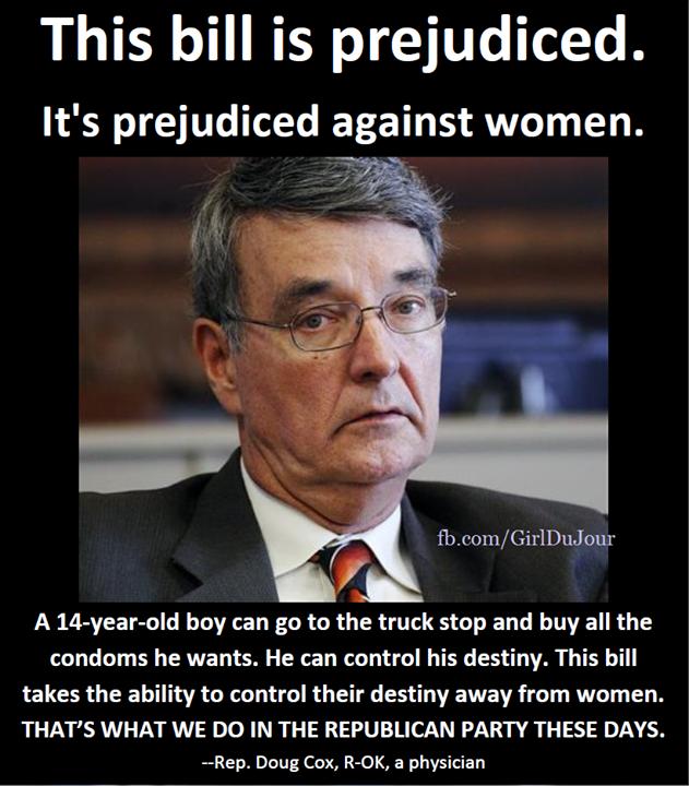Doug Cox says Bill is Predjudiced