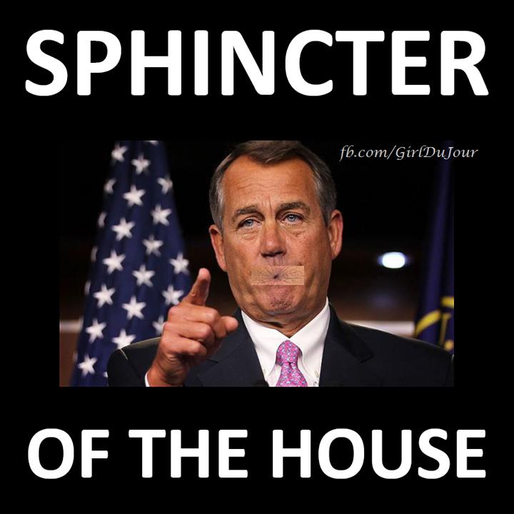 John Boehner Sphincter Of The House Girl Du Jour