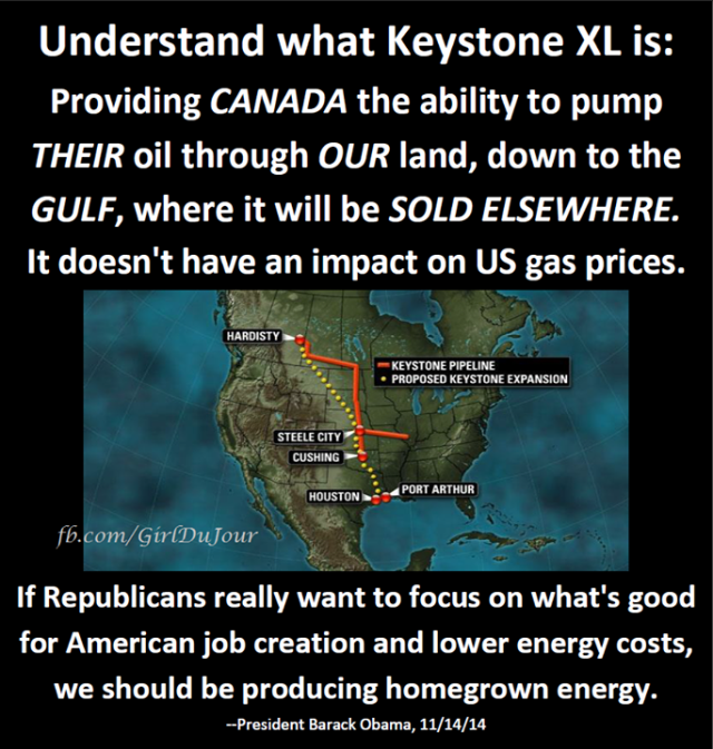 Obama Explains Keystone XL Girl Du Jour