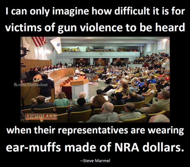 Steve Marmel Earmuffs Made Of NRA Dollars