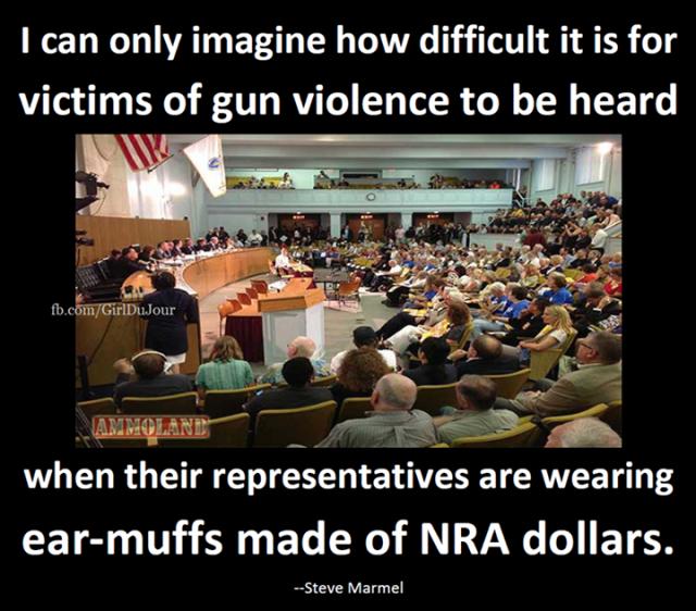 Steve Marmel Earmuffs Made Of NRA Dollars