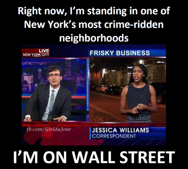 John Olive and Jessica Williams on Wall Street