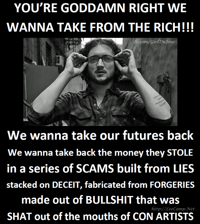 You're goddam right we wanna take from the rich Lee Camp Girl Du Jour